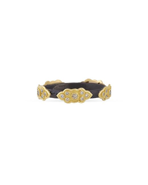 Armenta - Metallic Stackable Champagne Diamond Scroll Ring - Lyst