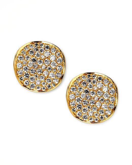 Ippolita - Metallic Stardust Diamond Stud Earrings - Lyst