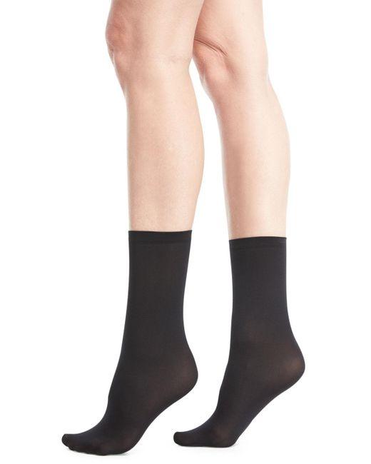 Wolford - Black Velvet Semisheer Socks - Lyst