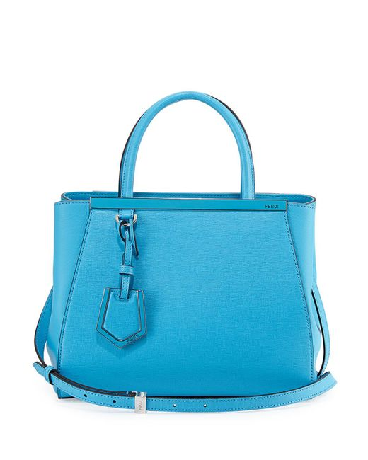 Fendi - Blue 2Jours Mini Shopping Tote - Lyst