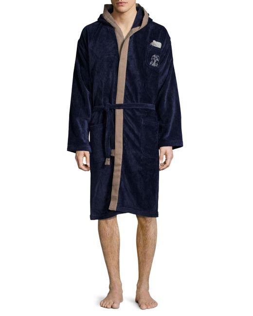 Brunello Cucinelli | Blue Men's Cotton Spa Robe for Men | Lyst
