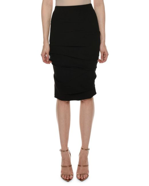 6a75dcdab Tom Ford - Black Ruched Jersey Body-con Knee-length Skirt - Lyst ...