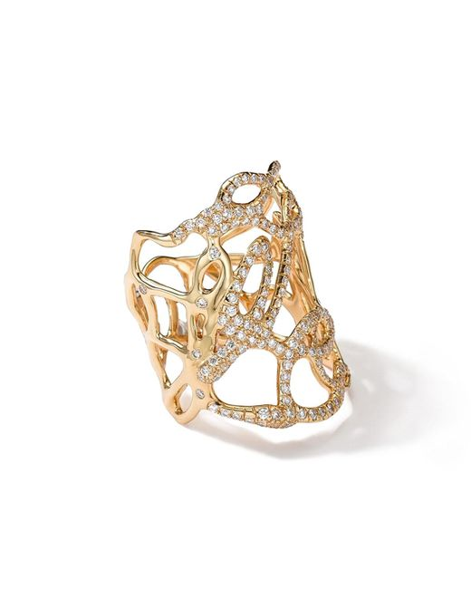 Ippolita - Metallic 18k Gold Drizzle Ring With Diamonds - Lyst