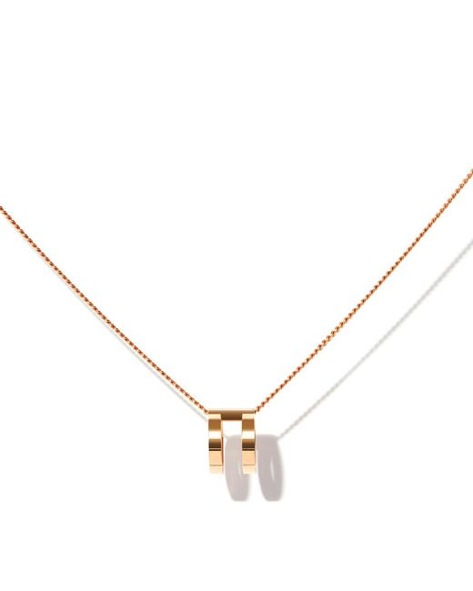 Repossi - Metallic Two-row Pendant Necklace In 18k Rose Gold - Lyst