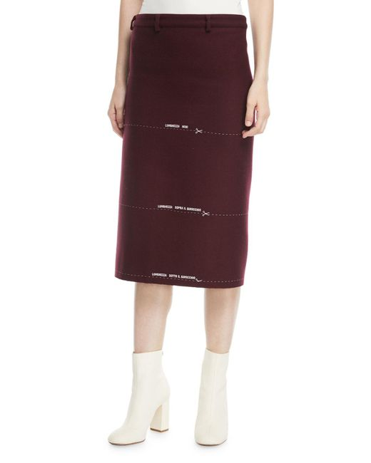 Vetements - Milanesa Skirt With Embroidered Lengths - Lyst