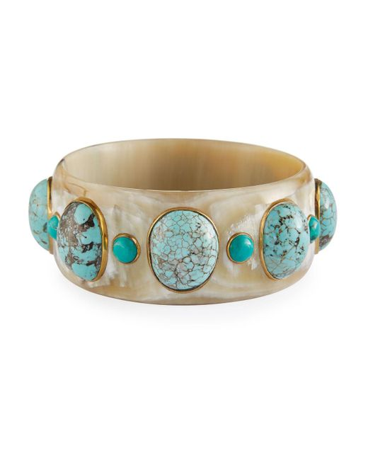 Ashley Pittman | Blue Michezo Light Horn & Turquoise Bangle | Lyst