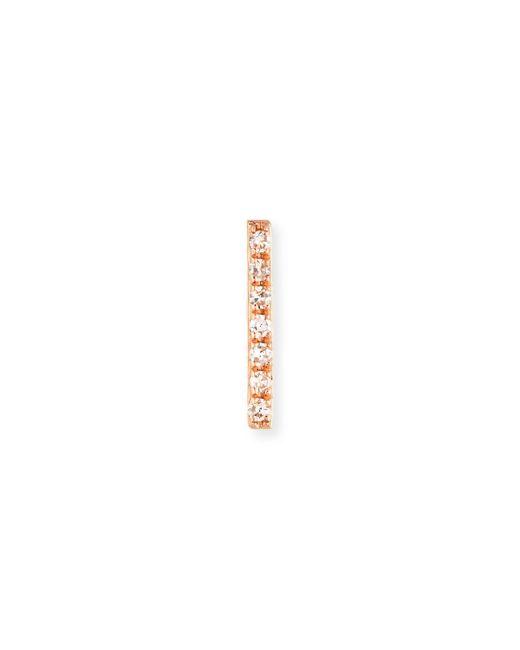 EF Collection - Metallic Diamond Bar Stud Earrings - Lyst