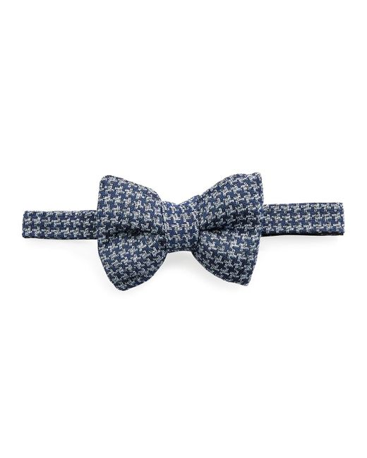 Tom Ford - Classic Houndstooth Bow Tie Medium Blue for Men - Lyst
