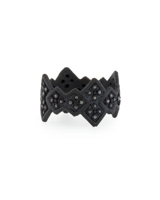 Armenta - Midnight Cravelli Black Diamond Wide Ring - Lyst