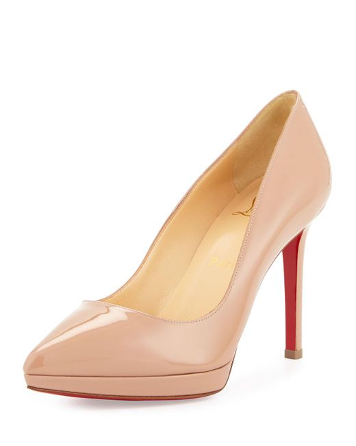 Christian Louboutin - Natural Pigalle Plato Patent Red Sole Pump - Lyst