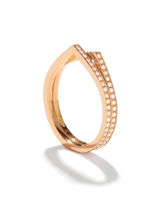 Repossi - Metallic Antifer Two-row Ring With Diamonds In 18k Gold - Lyst