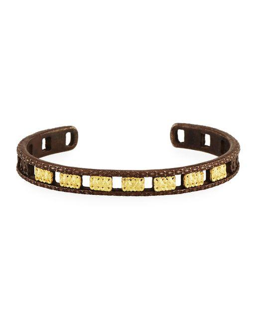 Armenta - Metallic Old World Midnight Open Carved Cuff Bracelet - Lyst