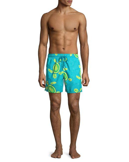 5cc1e3c6d06 ... Vilebrequin - Blue Men s Moorea Mosaic Turtles Swim Trunks for Men -  Lyst