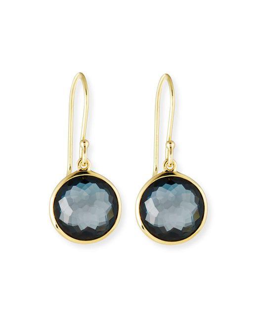 Ippolita | Blue 18k Gold Rock Candy Mini Lollipop Earrings | Lyst
