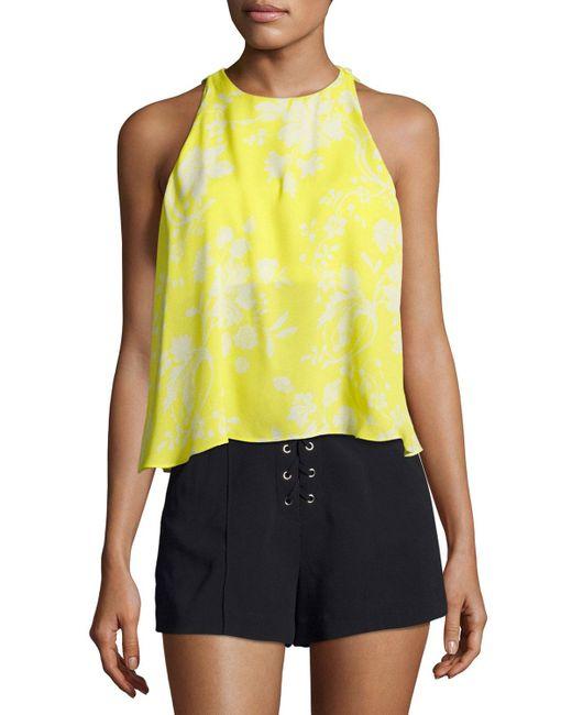 A.L.C. | Yellow Jasper Silk Sleeveless Top | Lyst