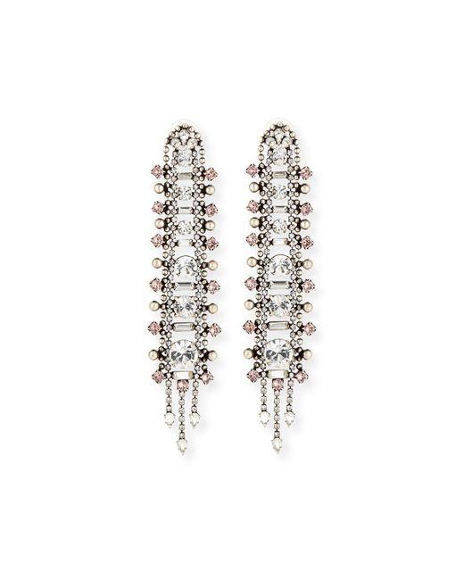 DANNIJO - Metallic Almendra Elongated Crystal Drop Earrings - Lyst