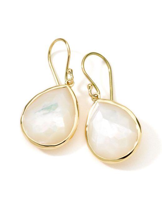 Ippolita - Metallic 18k Gold Rock Candy Medium Mother-of-pearl Teardrop Earrings - Lyst