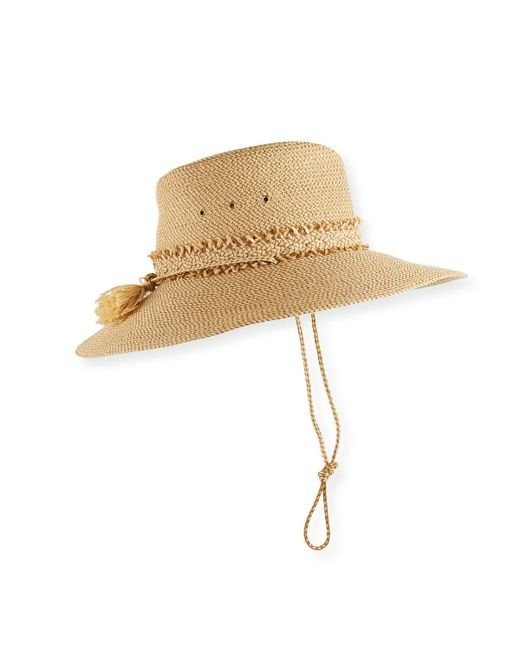 Eric Javits - Natural Voyager Packable Sun Hat - Lyst