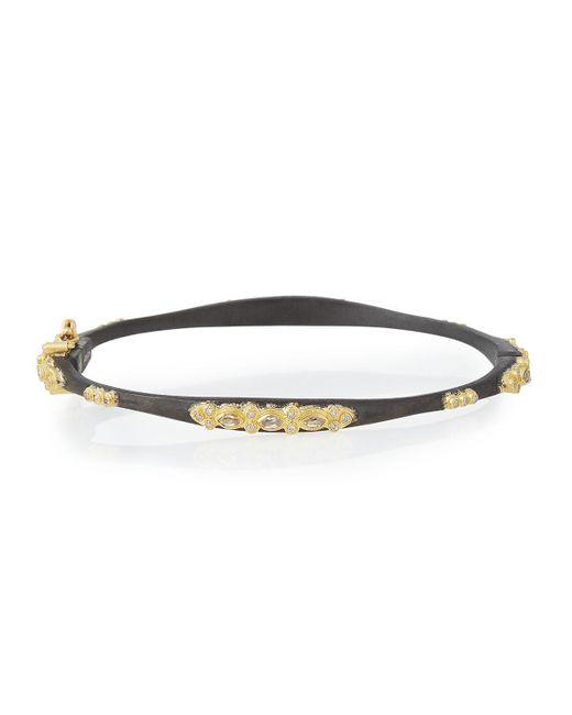 Armenta - Metallic Midnight Sapphire & Diamond Huggie Bracelet - Lyst
