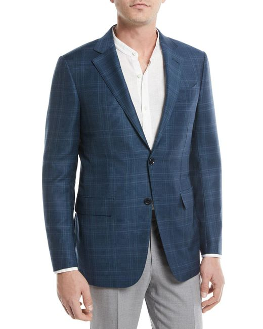 Ermenegildo Zegna - Blue Plaid Trofeo® Wool Sport Coat for Men - Lyst
