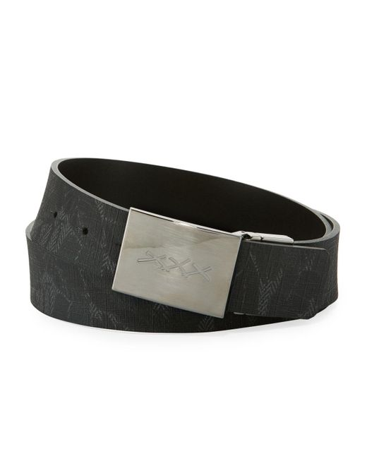 Ermenegildo Zegna - Green Leaf-print Canvas Belt With Xxx Plaque Buckle for Men - Lyst