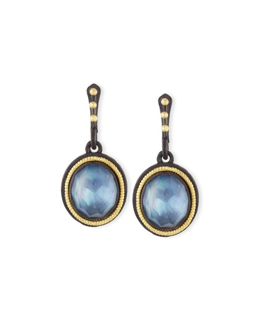 Armenta - Blue Old World Triplet Oval Drop Earrings - Lyst