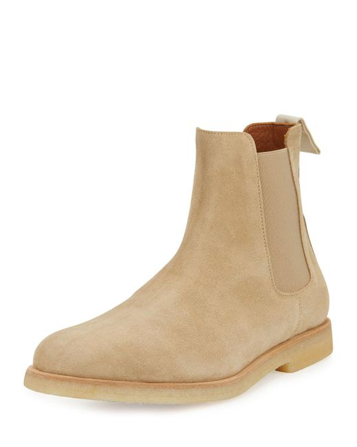 Common Projects | Natural Calf Suede Chelsea Boot for Men | Lyst