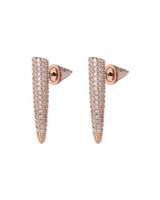 Eddie Borgo | Metallic Pave Crystal Mini Spike Earrings | Lyst