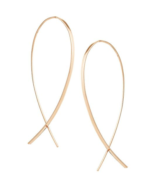 Lana Jewelry | Metallic Small Upside Down Hoop Earrings | Lyst