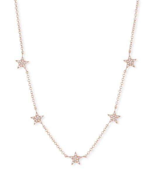 EF Collection - Metallic 14k Mini Star Diamond Necklace - Lyst