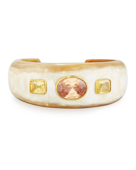 Ashley Pittman - Metallic Uhuni Light Horn & Crystal Cuff Bracelet - Lyst