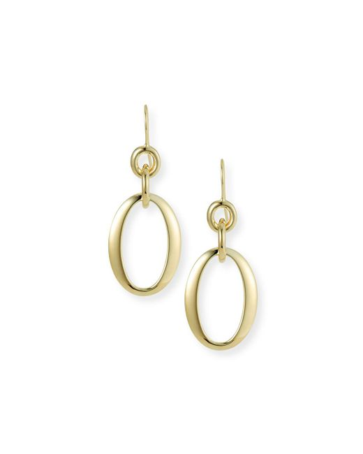 Ippolita - Metallic 18k Glamazon Short Oval Link Earrings - Lyst