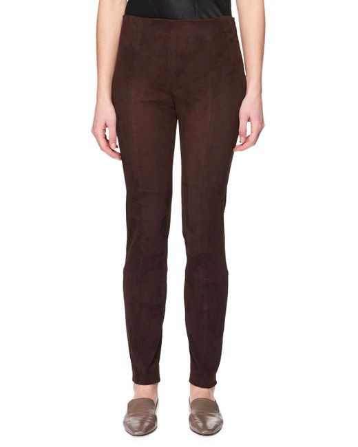 The Row - Multicolor Cosso Skinny Suede Pants - Lyst
