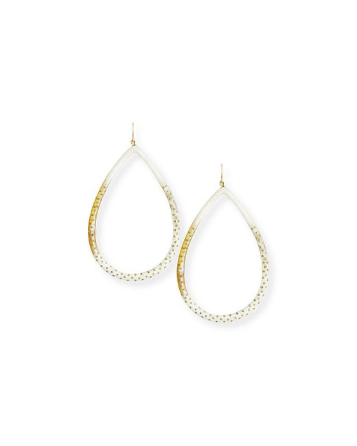 Ashley Pittman - Brown Kambi Light Horn Teardrop Earrings - Lyst