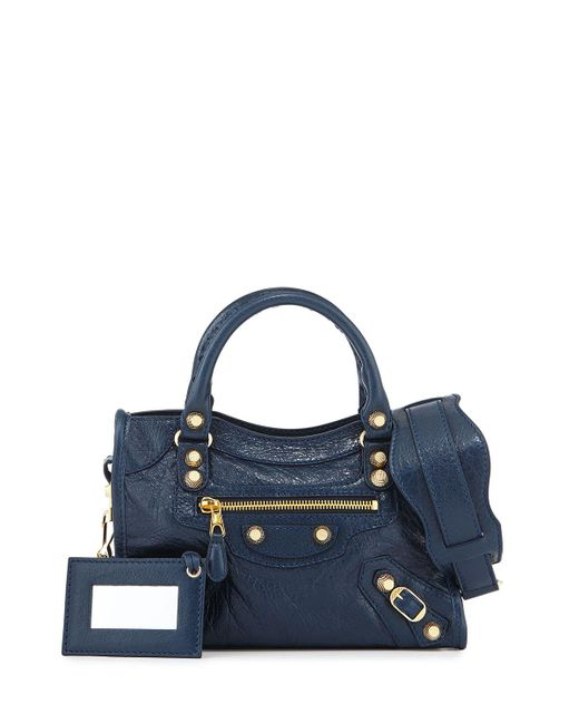 Balenciaga | Blue Giant 12 City Mini Lambskin Tote Bag | Lyst