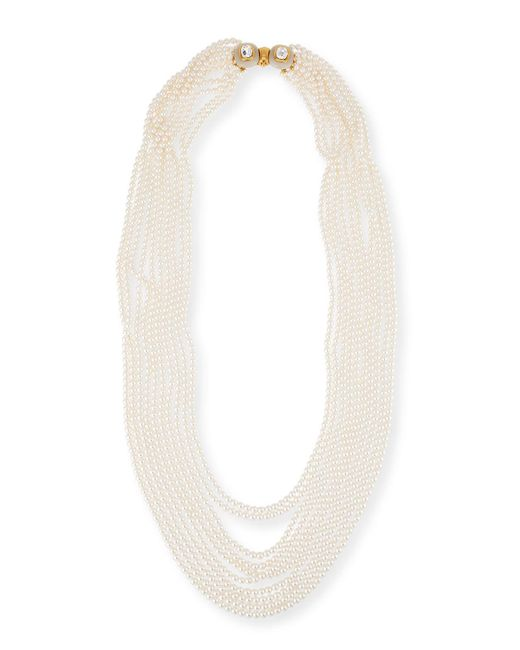 Oscar de la Renta | White Multi-strand Simulated Pearl Necklace | Lyst