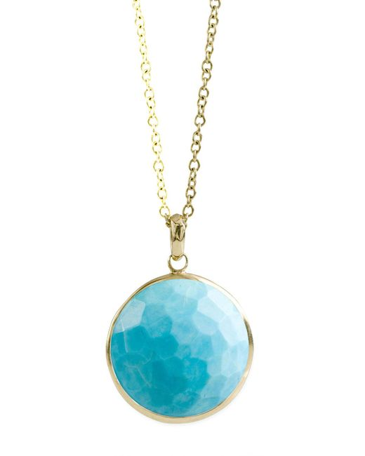 Ippolita - Blue 18k Gold Rock Candy Lollipop Pendant Necklace In Turquoise - Lyst