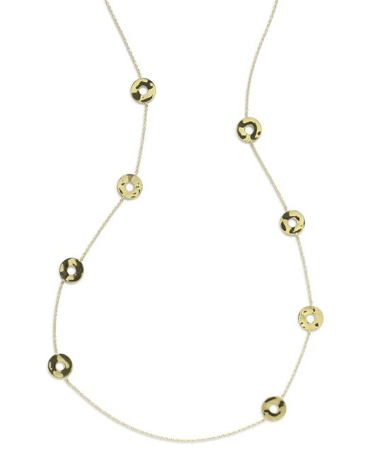 Ippolita - Metallic 18k Senso & #153 Disc Station Necklace - Lyst