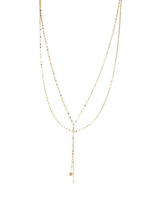 Lana Jewelry - Metallic Petite Blake Layered Necklace In 14k Gold - Lyst