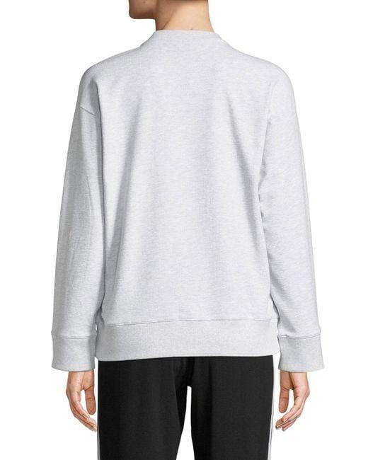 587a1b04 ... KENZO - Gray Tiger Logo Crewneck Pullover Sweatshirt - Lyst