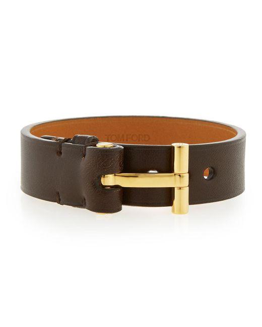 Tom Ford - Brown Nashville Men's Leather Bracelet - Lyst