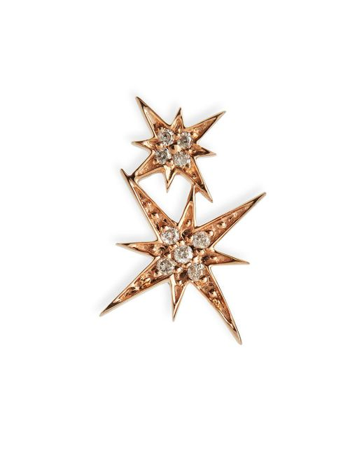 Sydney Evan - Metallic 14k Pave Diamond Double Starburst Stud Earring - Lyst