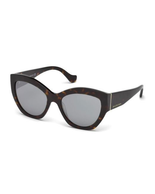 Balenciaga | Multicolor Chunky Mirrored Cat-eye Sunglasses | Lyst