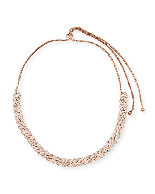 Fallon - Metallic Armure Pavé Crystal Curb Chain Necklace - Lyst