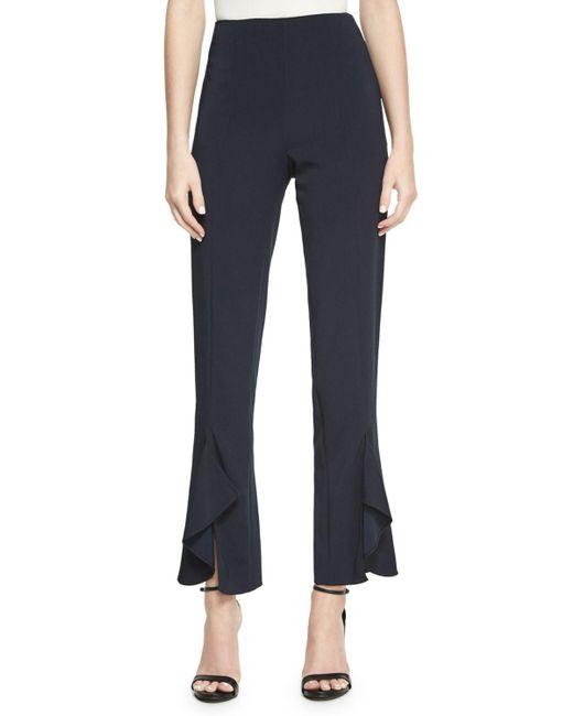 Cushnie et Ochs | Blue Julianne Tailored Skinny Ruffle-hem Pants | Lyst