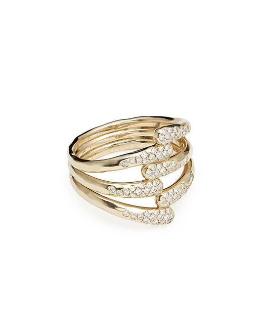 Ippolita - Metallic 18k Stardust Diamond Overlap Ring - Lyst
