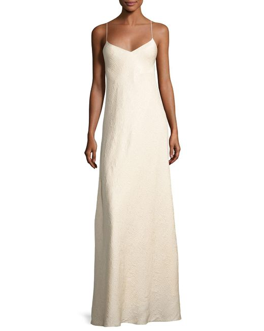 The Row | Natural Vera Cloqué V-neck Gown | Lyst