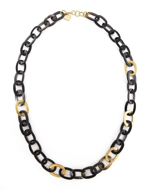 Ashley Pittman - Metallic Bronze & Horn Link Mara Necklace - Lyst