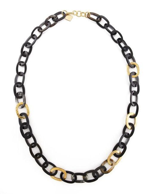 Ashley Pittman | Metallic Bronze & Horn Link Mara Necklace | Lyst