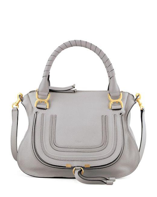 Chloé   Gray Marcie Satchel Bag   Lyst